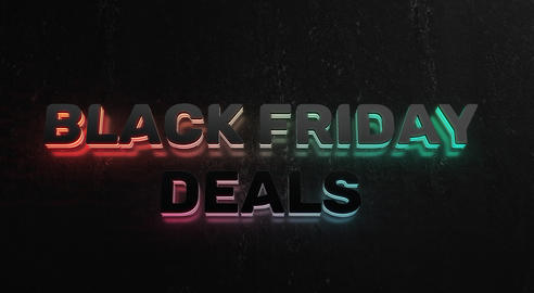 Text Animation With Black Friday Deals GIF