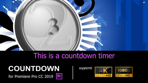 4K/HD COUNTDOWN [COUNTDOWN02] Premiere Proテンプレート