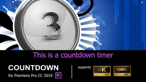 4K/HD COUNTDOWN [COUNTDOWN03] Premiere Proテンプレート