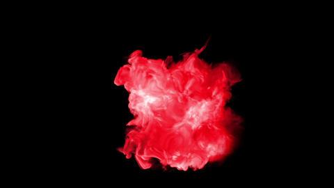 red Explosion bomb smoke animation Animation
