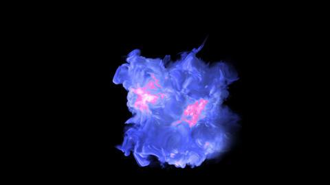 blue Explosion bomb smoke animation Animation
