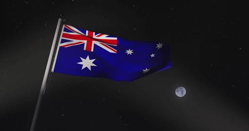Australia Flag Flying Is A National Symbol Of Patriotism For Australians - 30fps 4k Slow Motion Animation