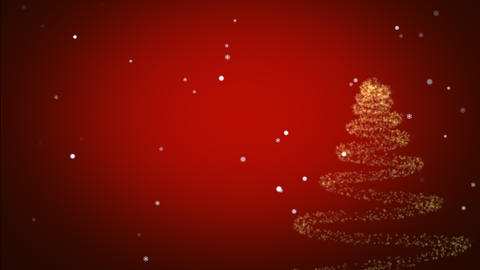 Merry Christmas greeting message with snow flakes and... Stock Video Footage