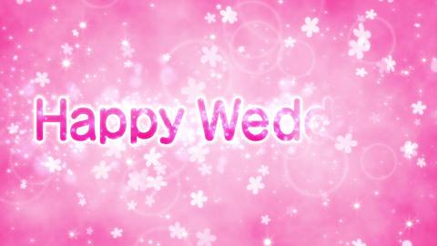 happy wedding 結婚おめでとう message loop CG動画