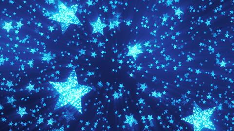 VJ Blue Shining Stars 1 Animation