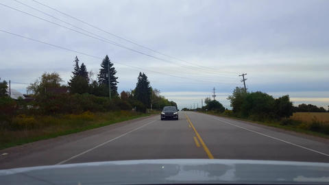 Rear View Driving Passing Slower Vehicle in Oncoming…, Live Action