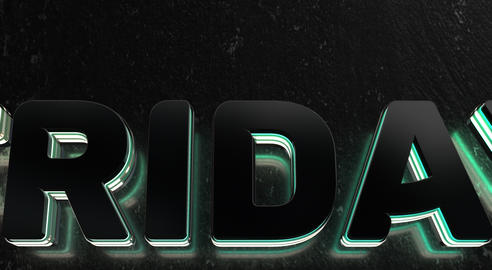 Text Animation With Black Friday Limited Time Only GIF