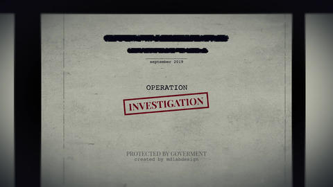 Operation Investigation After Effects Template