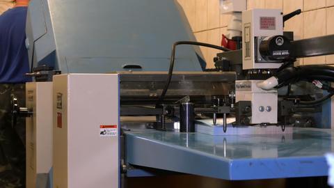 Operating folding machine Footage