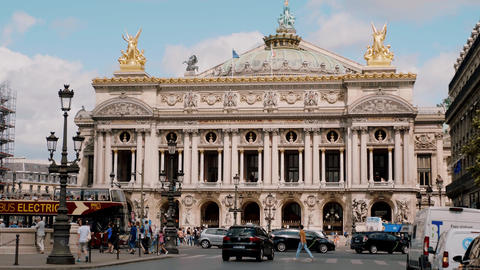 Famous Opera Garnier in Paris - PARIS, FRANCE - JULY 29, 2019 Footage
