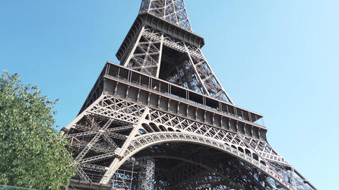 Famous Eiffel Tower in Paris Footage