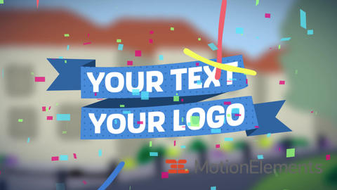 Banner Text Animation After Effects Template