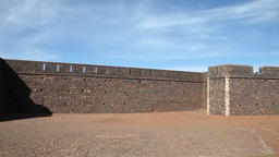 Old portuguese fort from the discoveries in Cape Verde, Africa Footage