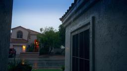 Establishing Shot Arizona Neighborhood in Monsoon Season Footage