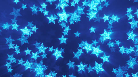 VJ Blue Shining Stars 2 Animation