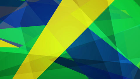 Bright geometric shapes motion design, Brazilian colors Animation