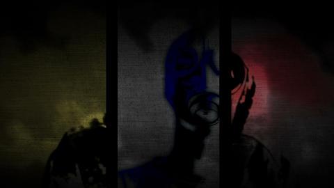 Gas masks and respirator combo Dark mix Animation