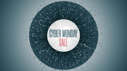 Modern Animation With Cyber Monday Sale Text GIF