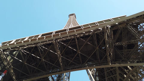 Eiffel Tower is the most famous landmark in Paris Footage
