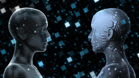 AI, artificial intelligence digital network technologies 19 2 Duo Grid BG 0 blue2 4k Animation