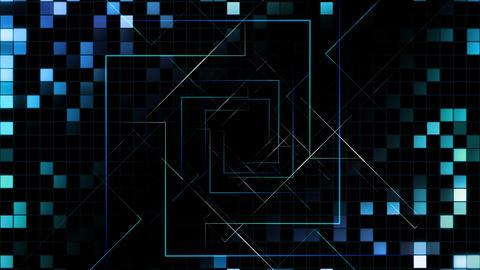 AI, artificial intelligence digital network technologies 19 Grid BG 0 blue1 4k Animation