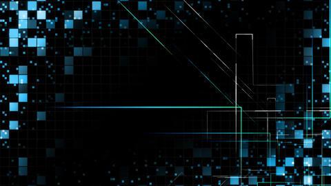 AI, artificial intelligence digital network technologies 19 Grid BG 0 F2 blue 4k Animation