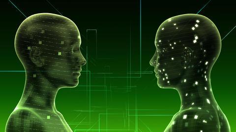 AI, artificial intelligence digital network technologies 19 2 Duo 1 green 4k Animation