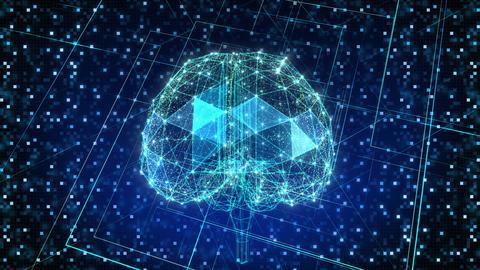 AI, artificial intelligence digital network technologies 19 1 Brain Grid BG 1 blue2 4k Animation