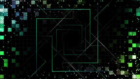 AI, artificial intelligence digital network technologies 19 Grid BG 0 green2 4k Animation