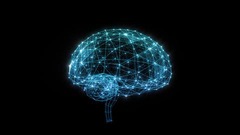 AI, artificial intelligence digital network technologies 19 2 Brain Human Logo 0 blue 4k Animation