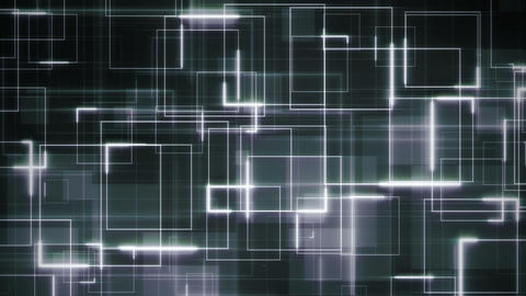 00147 - QuadBck2 v2 Compex sci-fi blue background loop formed by white square lines crossed by Animation
