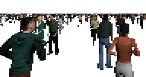 Pixel art walking men and women animation Footage