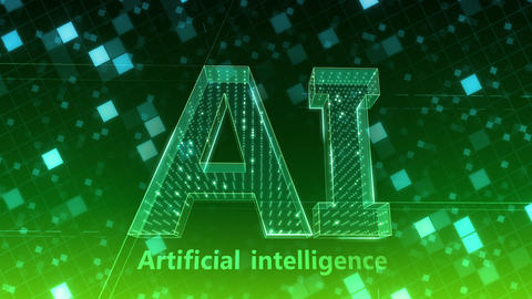 AI, artificial intelligence digital network technologies 19 1 Logo Grid BG 1 F2 green 4k Animation