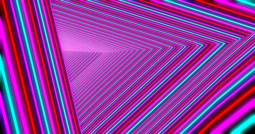 Abstract triangular portal seamless animation Live Action
