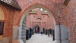Malbork Castle. Drawbridge between middle castle and high castle Live Action