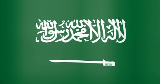 Waving Flag of Saudi Arabia Looping Background Live Action