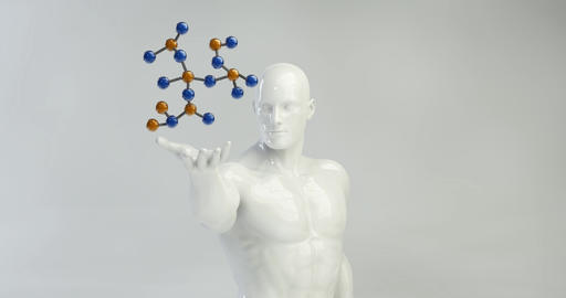 Chemical Science and Discovery as a Futuristic Concept Footage