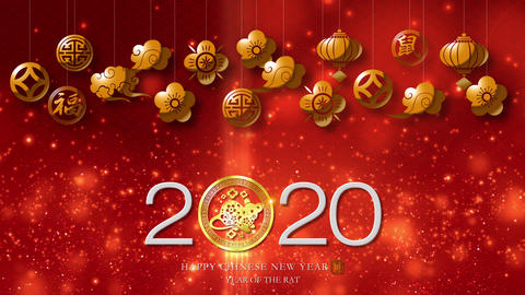 Happy Chinese New Year Year Of The Rat 2020 Animation