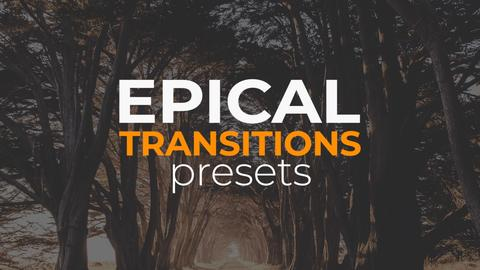 Epical Transitions Presets Premiere Proテンプレート