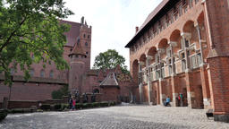 Malbork castle. Passage from the middle castle to high castle Live Action