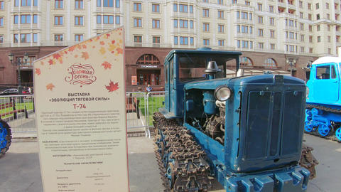 HTZ T-74 tractor exhibition Live Action
