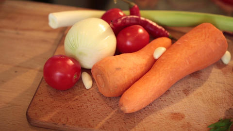 Fresh vegetables and igredients for cooking Footage