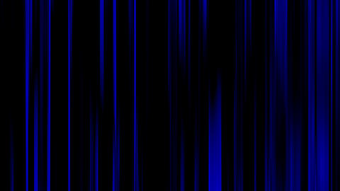 Broadcast Twinkling Blue Vertical Bars Video Stripe On Black Background Animation