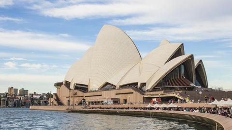 Australia, Sydney, Opera House Footage