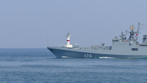 "Russian Frigate ""Admiral Grigorovich"" Footage"