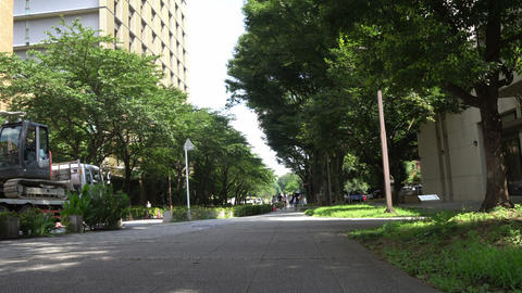 Street headed to a hospital at the university of Tokyo Footage