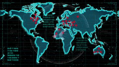 Hud map footage horizontal Animation