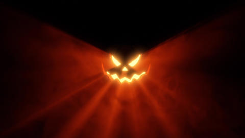 Halloween beat Pumpkin warm foggy lights Loop Animation