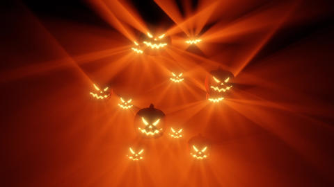 Halloween beat Pumpkins warm lights Loop Animation