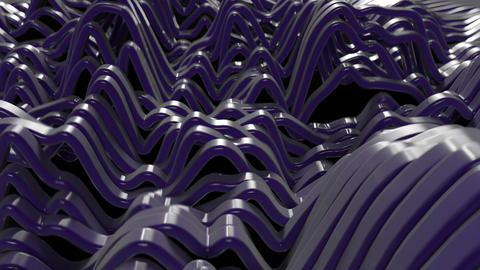 Abstract Undulating Bands Live Action